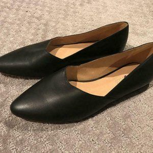 Madewell $98 The Lizbeth Flat in Leather AA604